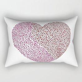 Big Red Heart Rectangular Pillow