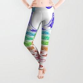 rainbow aggressive Leggings