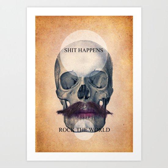 Rock the World / (Skull Collection) Art Print