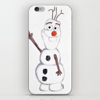 olaf iPhone & iPod Skins featuring olaf from frozen by Art_By_Sarah