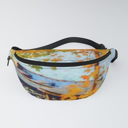 Boat Under Falling Leaves Fanny Pack