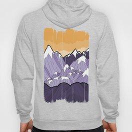 Mountains under the orange sky Hoody