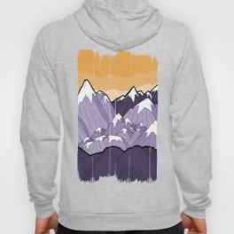 Mountains under the orange sky Hoody