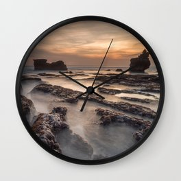Melasti beach at sunset, Tanah Lot, Bali, Indonesia Wall Clock