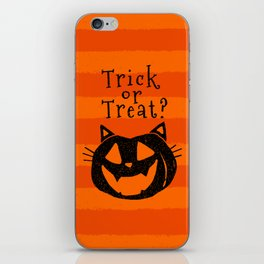 Trick or Treat? Halloween cat lady iPhone Skin