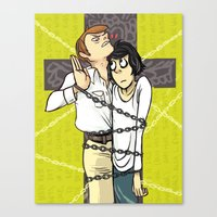 cartoons Canvas Prints featuring just like my japanese cartoons by clouds are great
