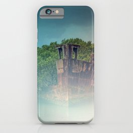 Shipwreck in the Mist iPhone Case