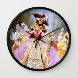 Victorian Masquerade Ball Wall Clock