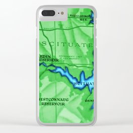 Scituate, Rhode Island Map - Scituate, Rhode Island Clear iPhone Case