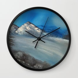 Sparkling winter ice Wall Clock