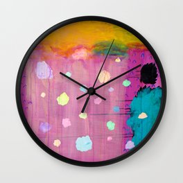 Cotton Candy Conundrum Wall Clock