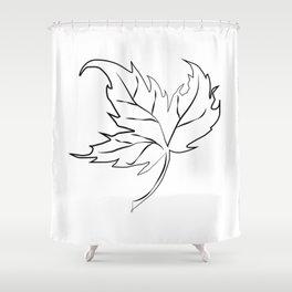 """ Halloween Collection "" - Autumn Leaf Shower Curtain"