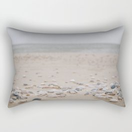 Photo of some sea shells on the beach of the Dutch Wadden Island Texel, in the world heritage of the Waddensea | Fine Art Travel Photography | Rectangular Pillow