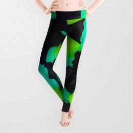 Green scene Leggings