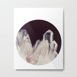 Quartz Crystal Three Metal Print