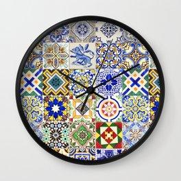 Azulejo — Portuguese ceramic #15 Wall Clock