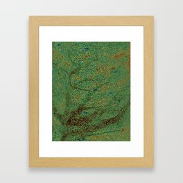 The Persian Rock Man Framed Art Print