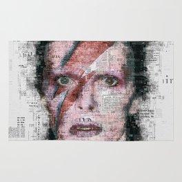 David Bowie Newspaper Style Rug