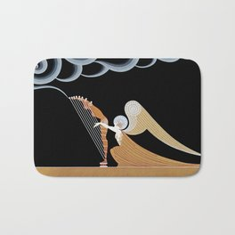 "Art Deco Design ""The Angel"" by Erté Bath Mat"
