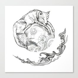 January's moon Canvas Print