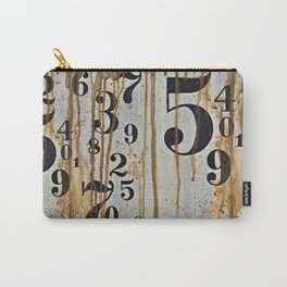 Numeric Values: Crude Figures Carry-All Pouch