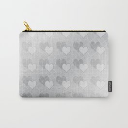 Silver hearts caught in a web Carry-All Pouch