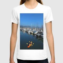 Pillar Piont Harbor at Half Moon Bay T-shirt
