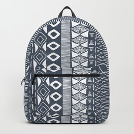 Adobe in Navy Blue and White Backpack
