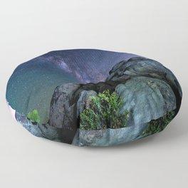 Milky Way Rock Floor Pillow