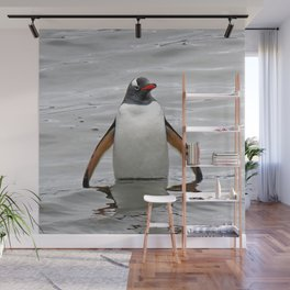 Gentoo Penguin in the Sea Wall Mural
