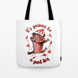Happy Guinea Pig Tote Bag