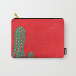 Cactus on Red Carry-All Pouch