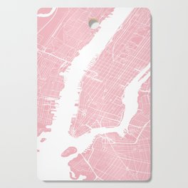 Pink City Map of New York, USA Cutting Board