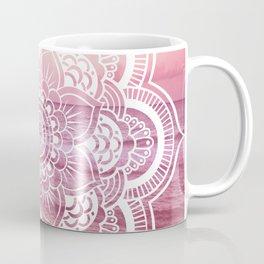 Water Mandala Pink Coffee Mug