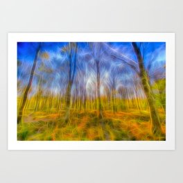 Electric Forest Art Print