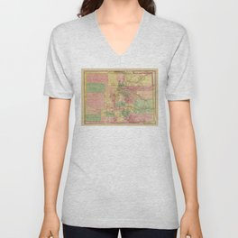 Colton's Sectional Map of Colorado (1878) Unisex V-Neck