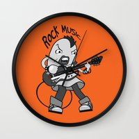 cassia beck Wall Clocks featuring Beck: Ryusuke's T-shirt Concept by KeithKarloff