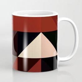 Red Black Block Pattern Abstract Coffee Mug