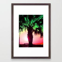 Reggae Palm Tree Framed Art Print