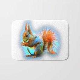 Squirrel in modern style Bath Mat