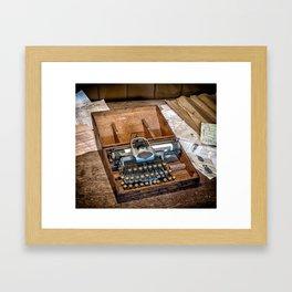Blickensderfer Typewriter Framed Art Print
