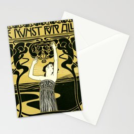 Art Nouveau Vintage Poster by Koloman Moser - Kunst fur Alle - Art for Everyone Stationery Cards