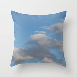 Meantime | sky photography Throw Pillow