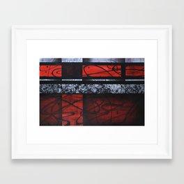 WAVES OF RED Framed Art Print