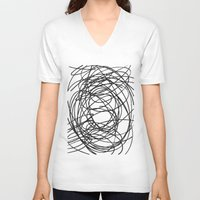 circles V-neck T-shirts featuring Circles by Irmak Berktas