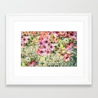 shabby chic Framed Art Prints featuring Shabby Chic Floral by Joke Vermeer