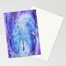 Celestial Butterfly Violet Blue Stationery Cards