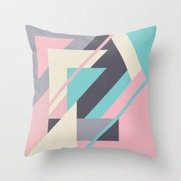 Delicious retro geometric Throw Pillow