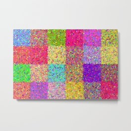 Twenty-four Squares Metal Print
