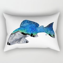 STARRY NIGHT GALAXY PLECO SUCKER FISH ARTWORK PAINTING Rectangular Pillow